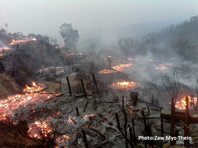 49 Houses Burnt Down In Mong Khark Township's Eastern Shan State
