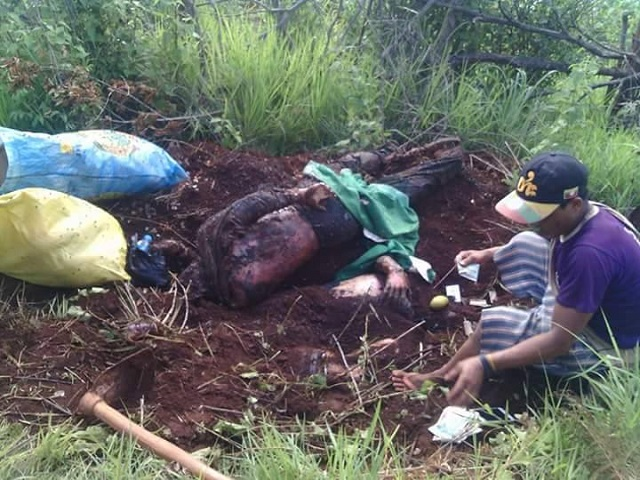 Photo by: Citizen Journalist- Bodies of Mong Yaw villagers found on June 29, 2016.