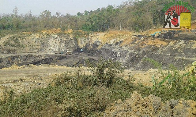 Coal mining site located in Namma area in northern Shan State's Hsipaw Township.