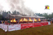 Shan armed groups burn drugs to mark UN narcotics day