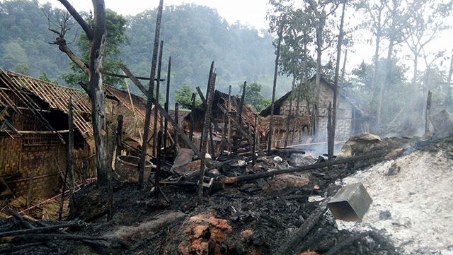 300 left homeless after Nai Soi Refugee camp fire