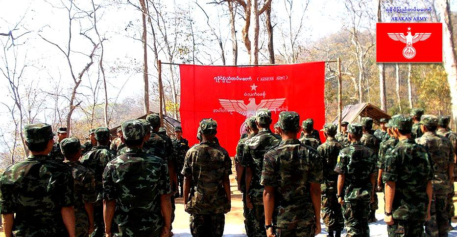 Graduation ceremony at Wunlet Post (Arakan Army)