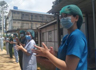 The 14th confirmed COVID 19 patient discharged from the Lashio public hospital on Saturday Photo Credit to Khun Zaw Oo 1 1