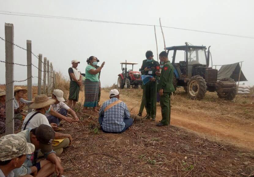 The military ploughed the farmland with a tractor 2