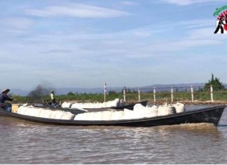Tomatoes carry boat in Inle Lake