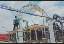 Lashio Municipal Change Manhsu Market Signboard