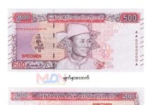 Myanmar new bank note