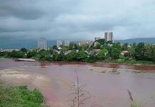 Shweli River Change red