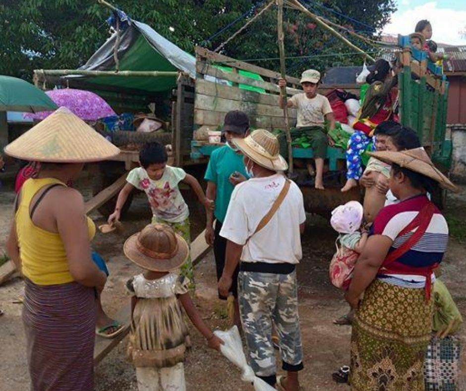 Internally displaced persons IDPs in Hsipaw Township returned to their homes on 24 July 2020