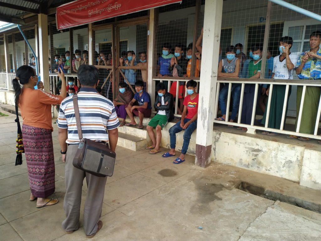 Photo by Nang Mya Htwe Panglong Quarantine camp
