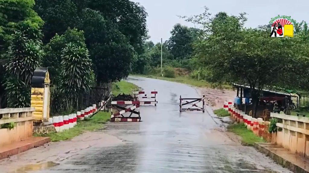 Check point at Numteang Bridge at Laikha Township