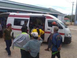 Injured Children are transferred to Lashio Public hospital