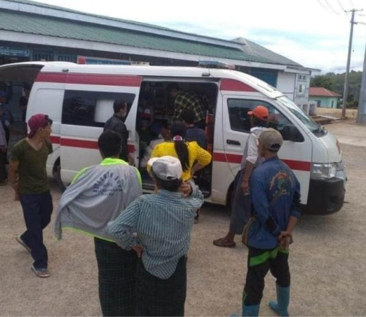 Injured Children are transferred to Lashio Public hospital