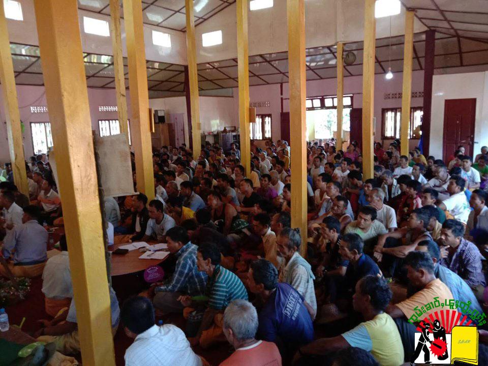 Sangkha and villagers meeting at Kesi