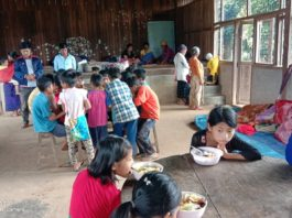 villagers refuge to Nam Hkawng village clash broke out between Burma Army and Kachin Independence Army