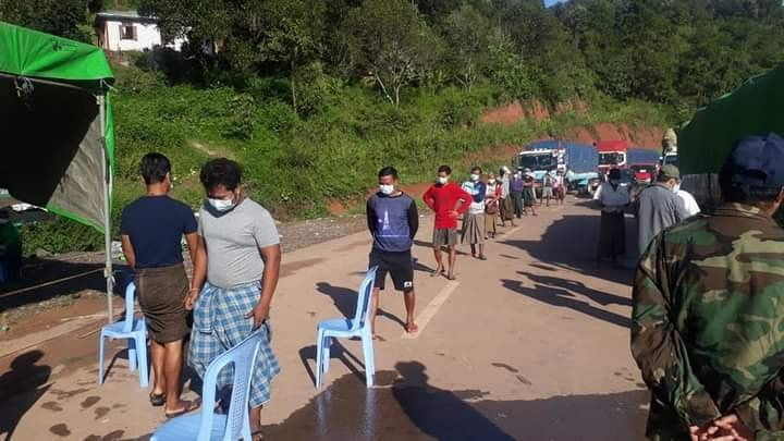 Drivers were detected at a health checkpoint in southern Shan October 3