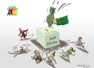 Election in Shan State cartoon
