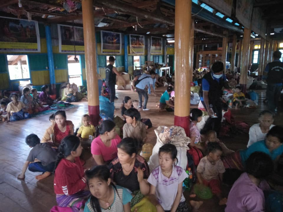 Photo by Sai Nay Aung war vitims in Kyautmae Township
