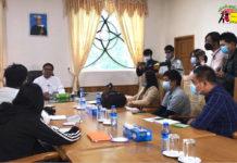 U Soe Nyunt Lwin meet with media