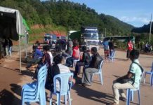 commercial drivers were detected at a health checkpoint in southern Shan October 3