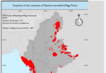 The locations of Election-cancelled Village Tracts