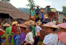 villagers flee cause of fighting between Datmadaw at Kyautmae