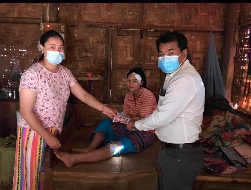 woman injure at Kyautmae Photo by Sai Mya Tun Soihurng 2