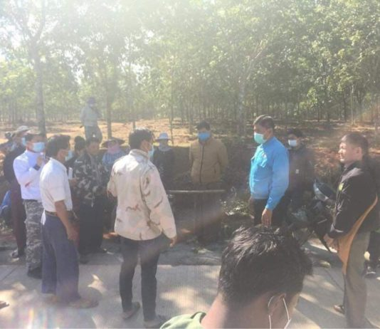 Nawng Nguen villagers and GAD Authorities discuss about Land 8 January