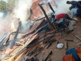 A pregnant woman and a man were killed after a shell landed in their village fighting between EAO 1