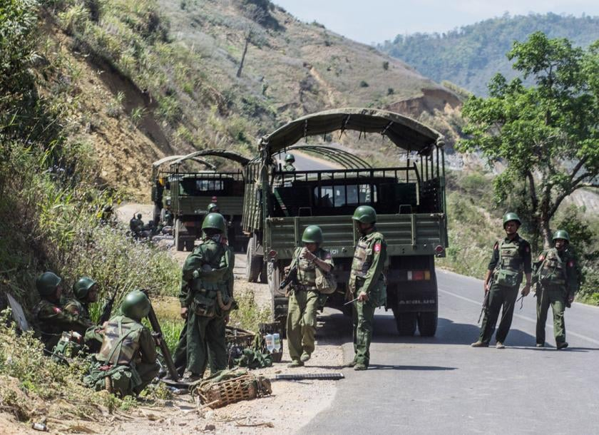 Burma military