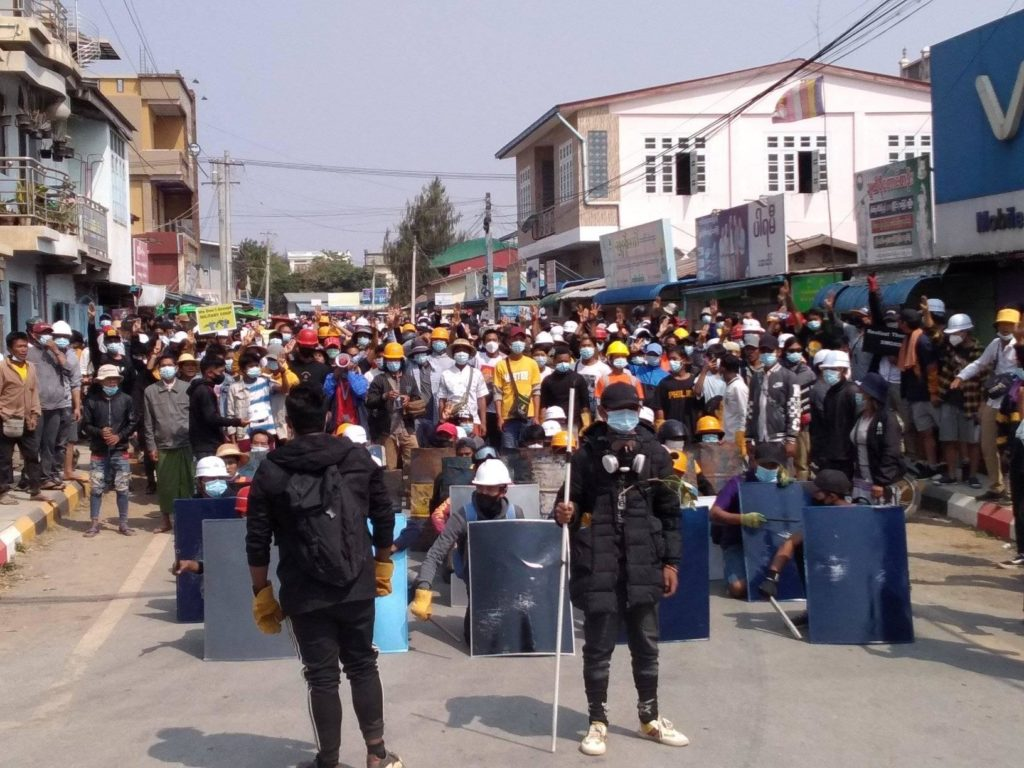 Protest at Taunggyi 23 March