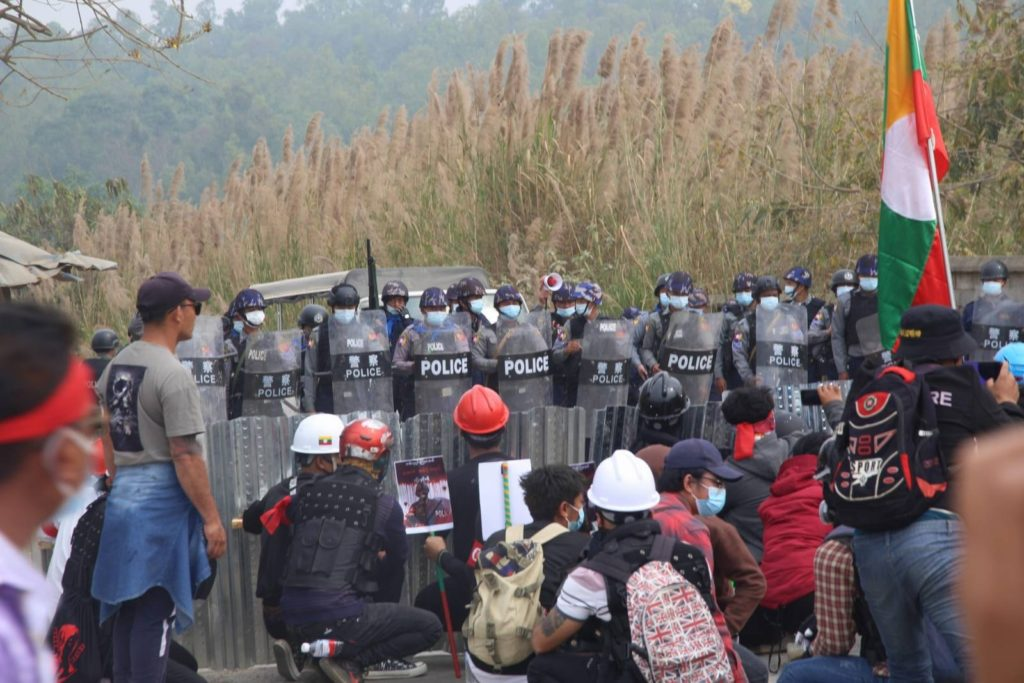 Protest at northern shan state