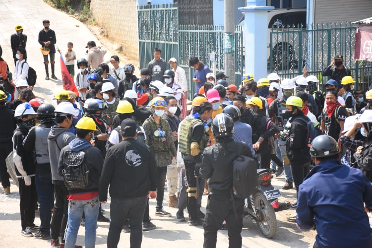 Protesters Injured During Crackdown in Taunggyi 10 March