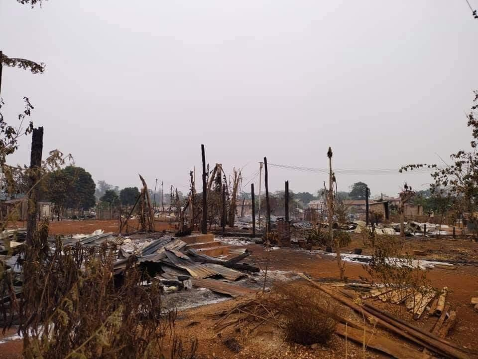 Villagers house burnt by EAO shooting at Northern Shan State