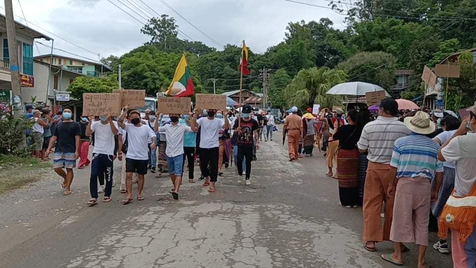 Namkham protest