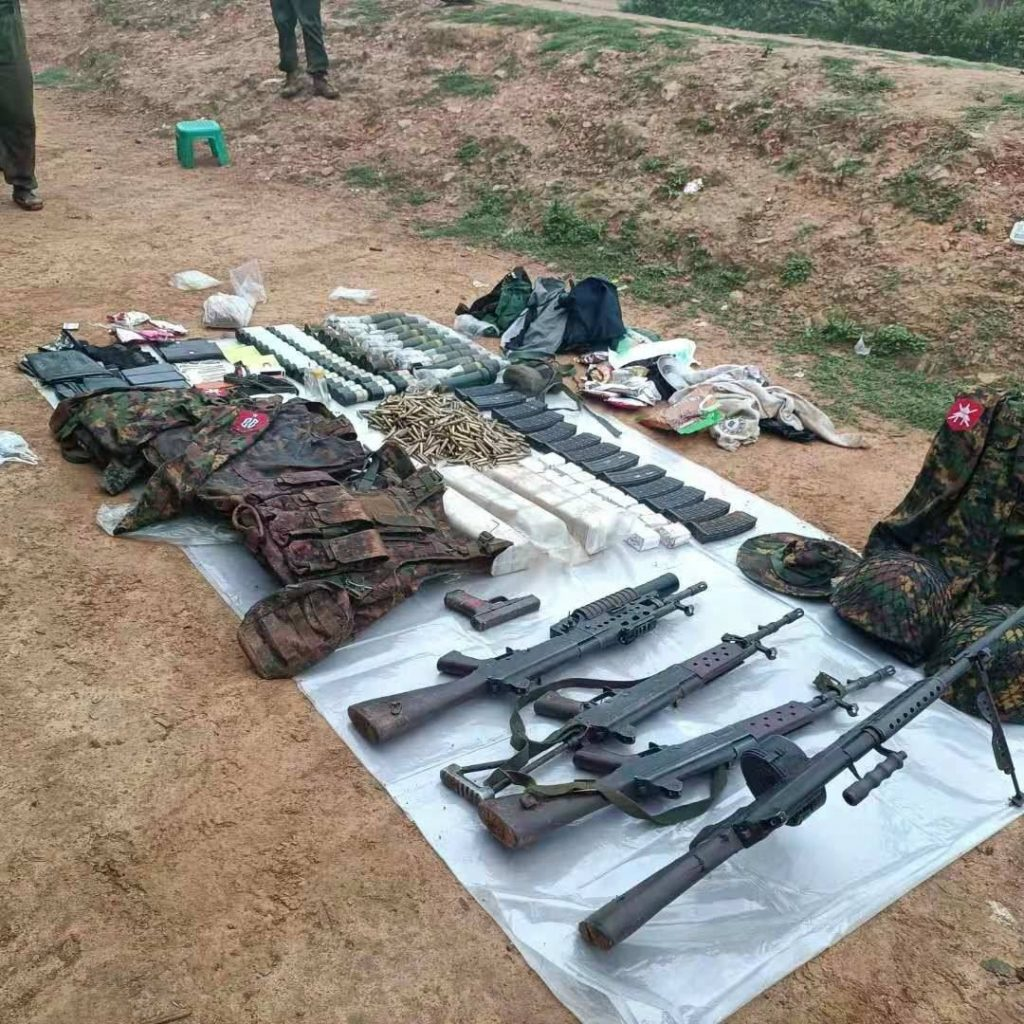 Northern Alliance attacked Burma Army camps in northern Shan State capturing weapons and military equipment 31 May 2021