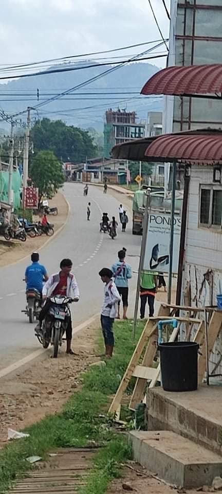 Panglong villagers after bomb 28 May 2021