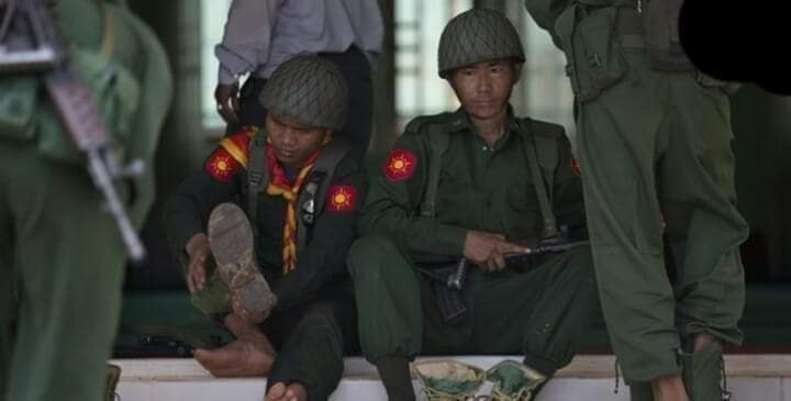 Soldier at Tachileik