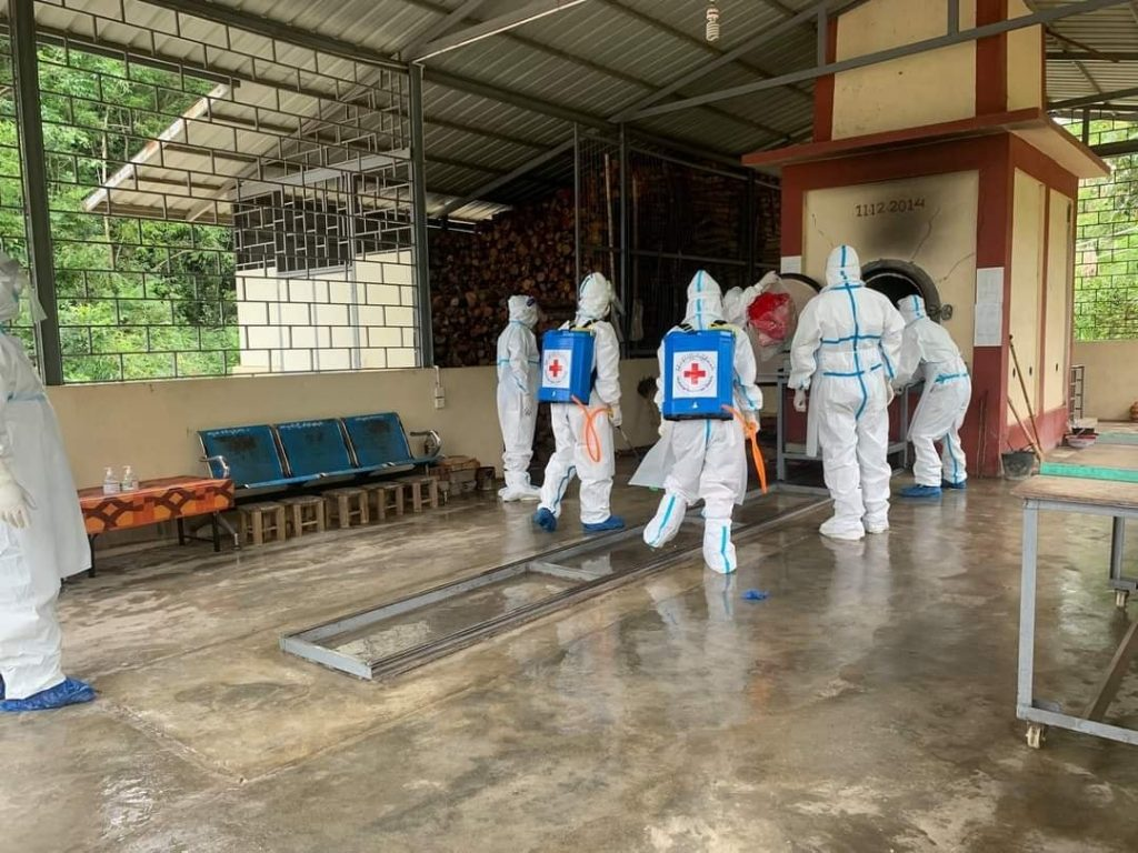 Covid infection dead body at Hsipaw