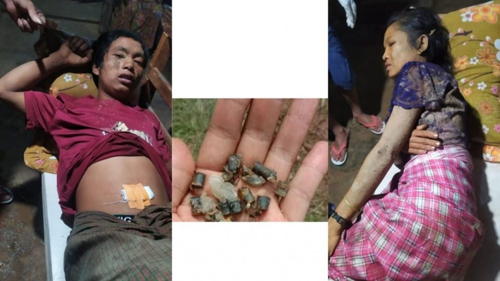 A man and woman were injured after stepping on a landmine at Kyautme