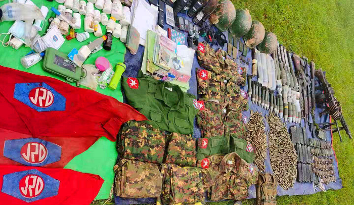 Juntas guns and bullets thats Northern allience seize at Mongkoe fighting 28 August 2021