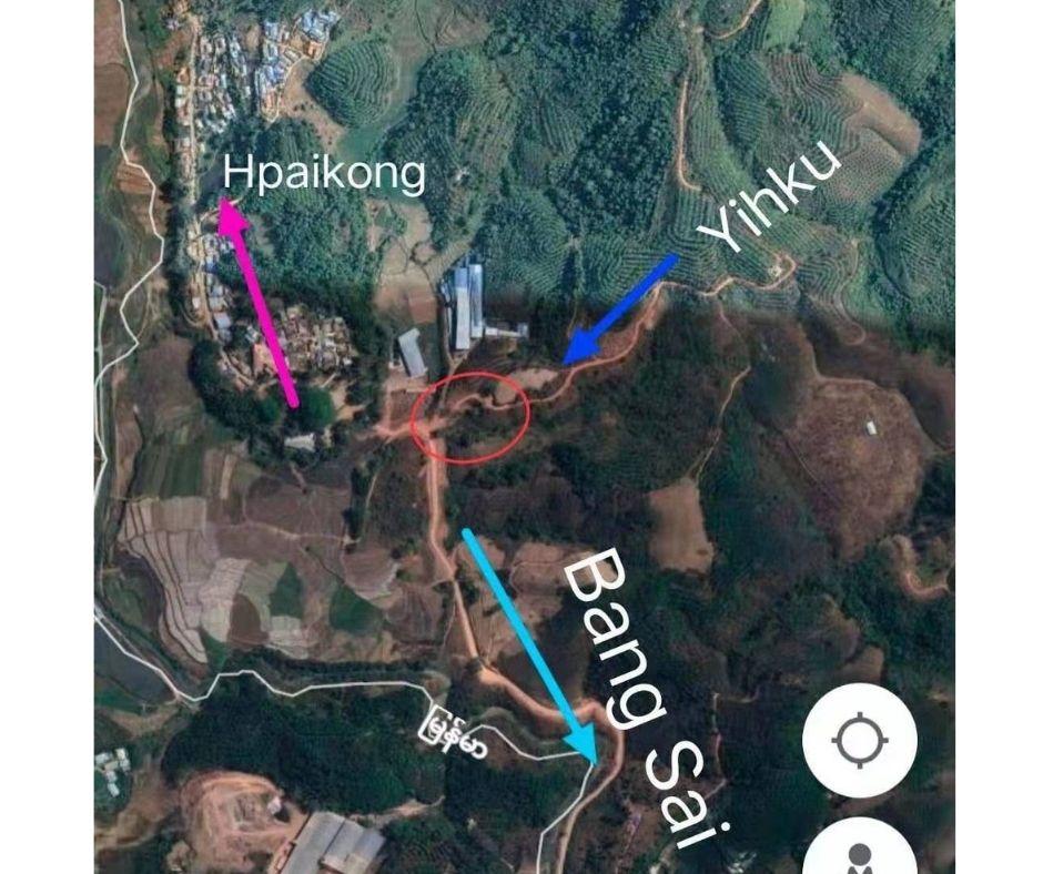 the map of a abandoned village between Wan Num Hu and Yhiku at Mongkoe